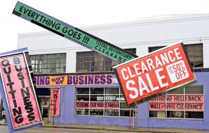 collage signs of impending bankruptcy